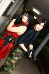 Back to Back: Ada and Leon by aiko-mizuno