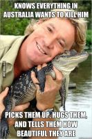 Good Guy Steve Irwin. by aphftwb-tches