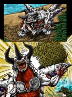 Attack On Monster Island Page 4, Commission by kaijukid