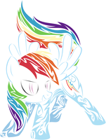 Tribal Rainbow Dash by Serenawyr