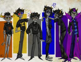 Homestuck Boys by glooptastic