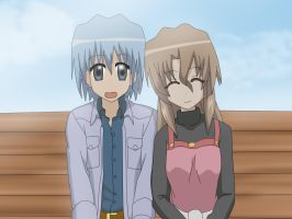 Hayate and Maria by Rydin