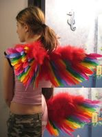 Gay Pride Wings by JunieNicole