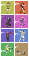 Asnolv Region -Gym Leaders- 2013 by zephleit