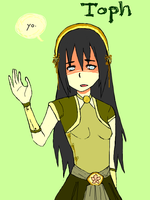 Earth Bender Toph: yo. by ChibiHaruChans