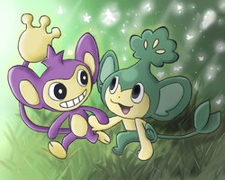Lovable Pokemonkeys by PepperSupreme