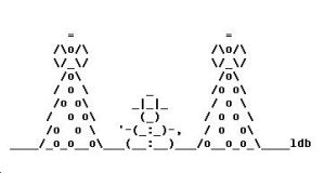 Christmas Scene in ASCII by ThatGrrl