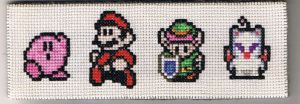 Nintendo Bookmark Stitch by Awenmir