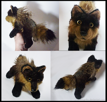 FOR SALE: Brown Feathered wolf by goiku