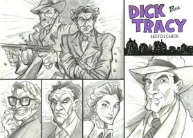 Dick Tracy Sketch Cards by Snipetracker