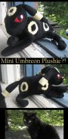 Mini Umbreon Plushie by Polytropic