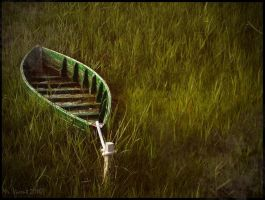 Boat on green II by Mr-Vicent