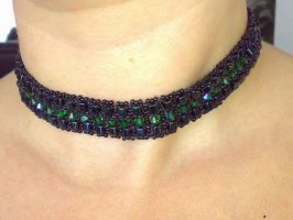 Black cube choker by tonyarama