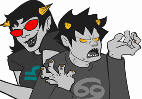 Karkat and Terezi - Uglymode by soap-scum