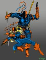DeathStroke and Ravager Colors by LarsonJamesART