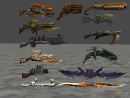 XNALARA XPS Model Release! Weapons Collection by Merytaten-tasherit