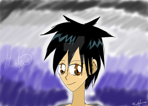 Escaping Darkness Character Sketch #1: Hunter by MidnightDayDream