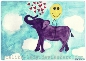 Elephant In The Sky With Hearts by Joalita-lady