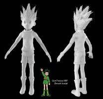 Gon Freecss- WIP Zbrush Sculpt by Gashu-Monsata