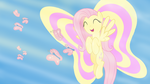 Fluttershy Wallpaper by Bowtied-Pony