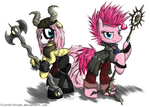 Zed Pie and VikkeShy by FlutterThrash