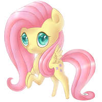 Fluttershy Chibi by AwesomeBluePony