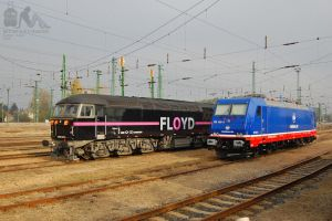 185 409 (Raildox) and 0659 001 in Hegyeshalom by morpheus880223