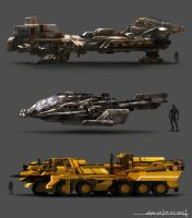 Sci-Fi Vehicles by Alpha-Step