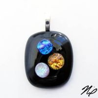 Fused Glass BUBBLES Pendant by Create-A-Pendant