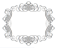 border writing font tattoo frame mirror by CalebSlabzzzGraham