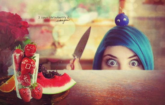 I love strawberry... by Ata-Ur-Rehman