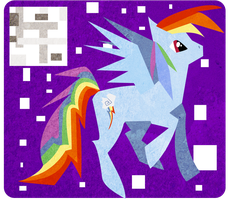 Picasso Rainbow Dash - Textured by KellyPony