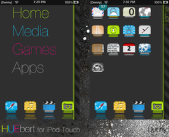 HUEbert iPod Touch theme 0.9b by aero5mith