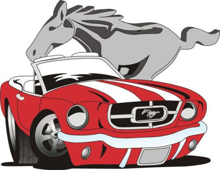 Nother Vectored Mustang by crazykid08