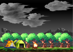 Camping Background by Trina02