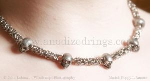 Pewter Skulls by LadyLockeout