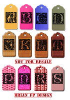 Letterd tags by BrianFP