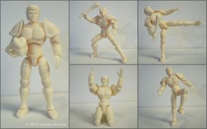 3D printed Android unpainted by hauke3000