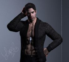 Kaidan Off Duty by CelticWolfwalker