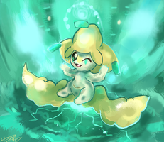 Jirachi is Awekened by LizardonEievui13