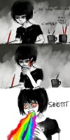 comics of my life: coffee and watercolor water by NanFe
