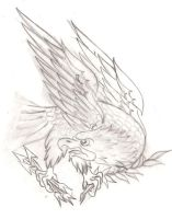 Traditional Eagle Tattoo by Metacharis
