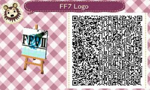 FF7 Logo for Animal Crossing New Leaf QR Code by sephiroth1204
