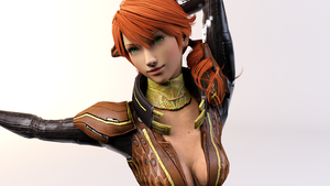 3DS Max - Oerba Dia Vanille Render 2 by SilverMoonCrystal