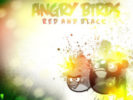 Angry Birds: Red and Black 1024x768 by Gamchawizzy