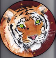 Tiger clock no.3 by LenaZLair