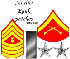 Marine Rank Patches by Chrippy