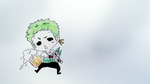 Zoro Chibi Drawing by miichiru