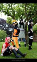 Naruto Shippuden Group Pose by MortenW