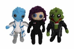 Mass Effect Plushie Biotic Squad by diygeekess